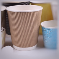 8OZ Pure Kraft Ripple Wrap Paper Coffee Cups