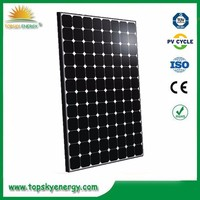 19.6%-20.3% efficiency 330W mono sunpower 5*5 cells 96pcsBlack Frame Solar Panel