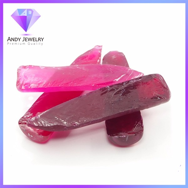 synthetic rough uncut ruby raw ruby