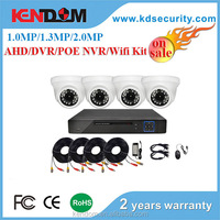 Best selling popular 720P/960P/1080P mini bullet camera cctv kit 4ch dvr kit smart home system