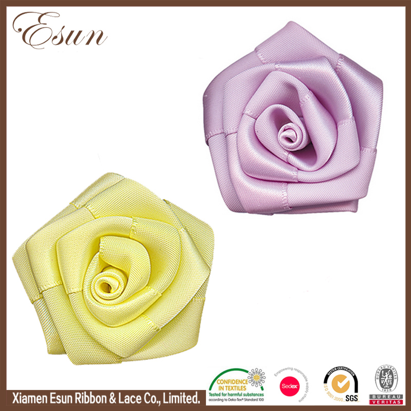 Handmade making artificial silk ribbon flower