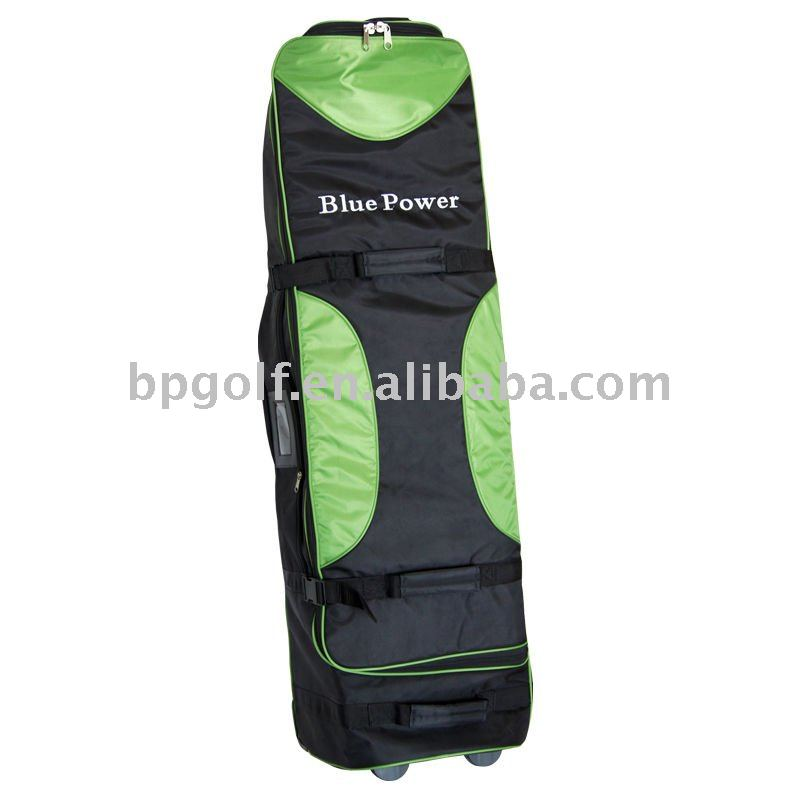 Foldable air golf bag with wheel