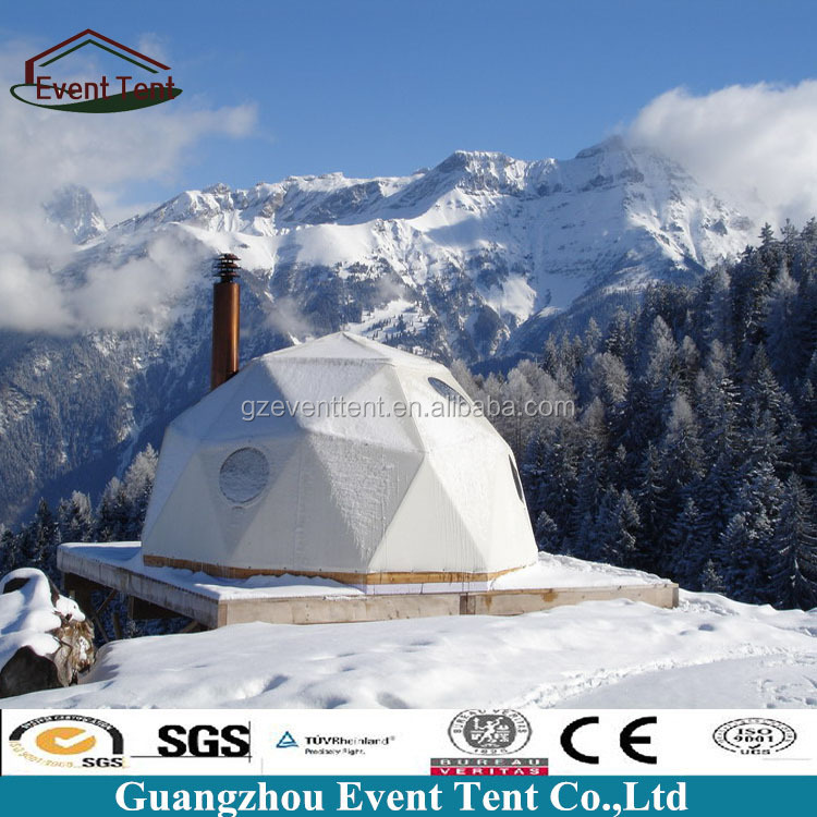 6m winter cold weather tent, geodesic dome tent with insulation layer