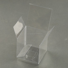 Transparent small plastic box food grade for cake square small clear PET plastic folding boxes with factory price