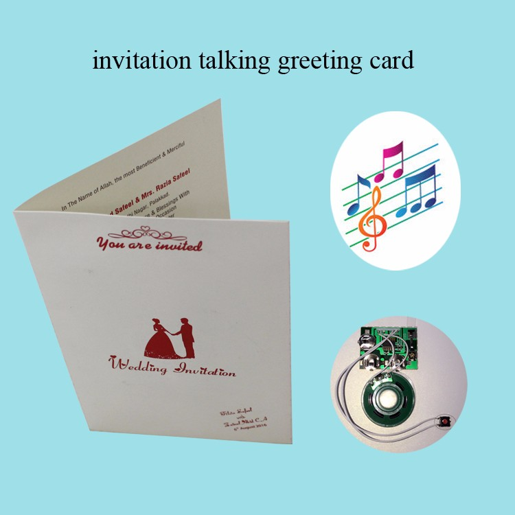 Top selling creative music wedding greeting cards with colorful lights
