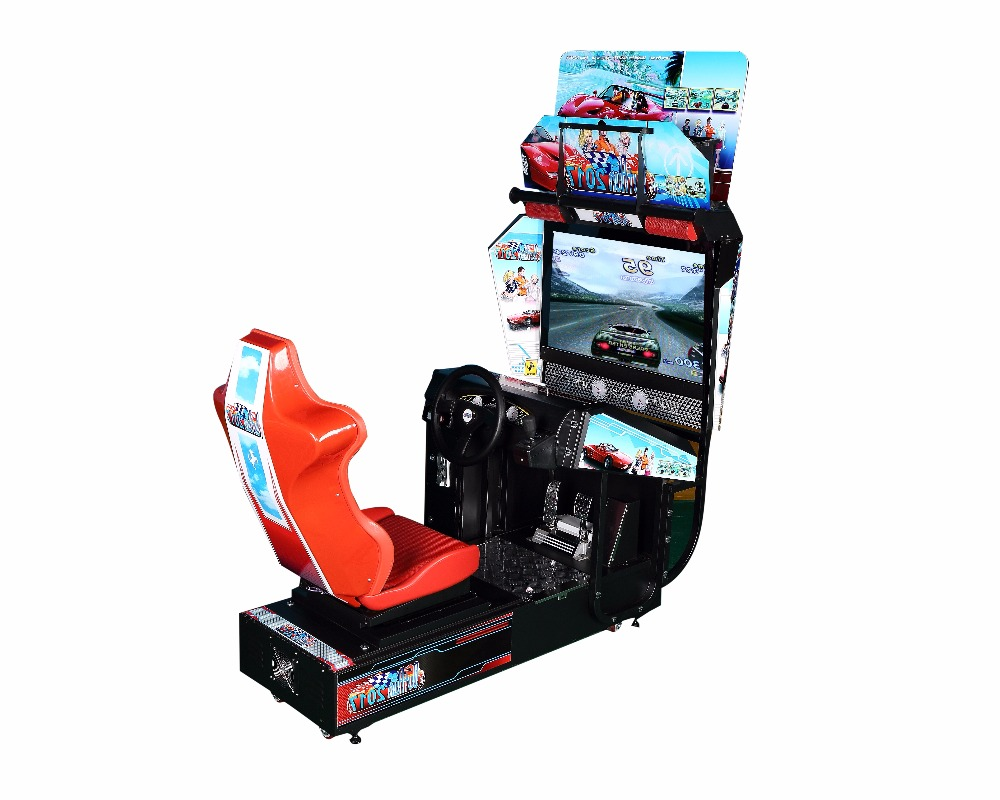2016 hot sale car racing outrun new coin qperated simulator video indoor game machine