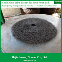 Suncel chain link Rootball Wire Mesh Basket for Tree Transplant/tree wire basket
