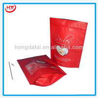 stand up LDPE plastic film dessert packaging bag with printing cake, bread,dessert packaging bag
