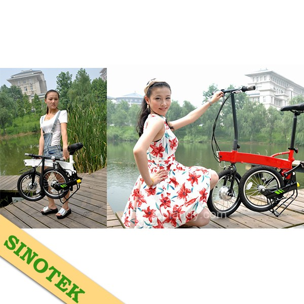 SINOTEK lightweight mini 260W 14 inch fast electric bike folding