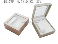 Custom Iridescent Paper Gift Box with Clear PVC Window for Watch Pendant T917WP