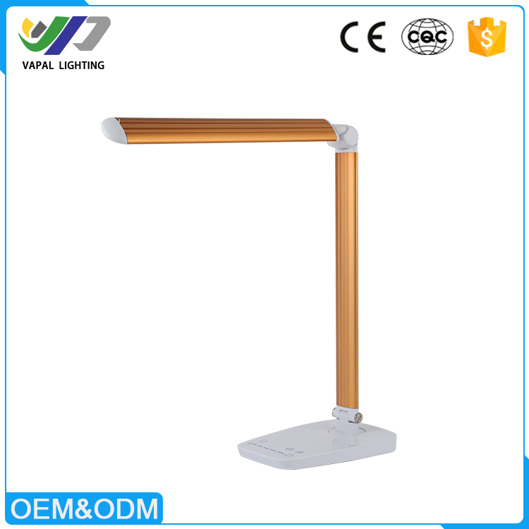 OEM dimmable 10W foldable touch sensor office led desk lamp with usb port