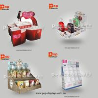 pop paper floor display stand for electric torch retail