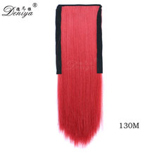 2017 Popular red color Synthetic Japanese Fibre Heat Resistant Claw Ponytail Hairpieces Hair Extension