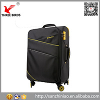 2016 Alibaba China supplier Carry on eminent business nylon trolley luggage for man woman