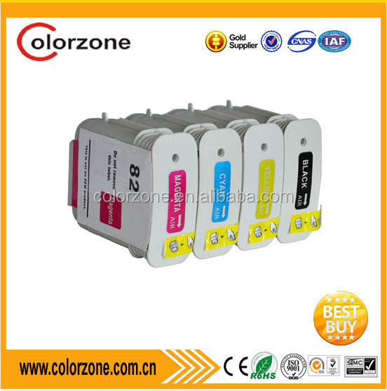 compatible HP 82 high quality ink cartridge for C4911A C4912A C4913A