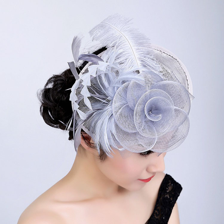 2018 beautiful head piece tea bridal party hair decoration feather fascinator