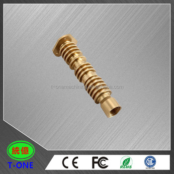 professional customized brass fittings cnc turning parts