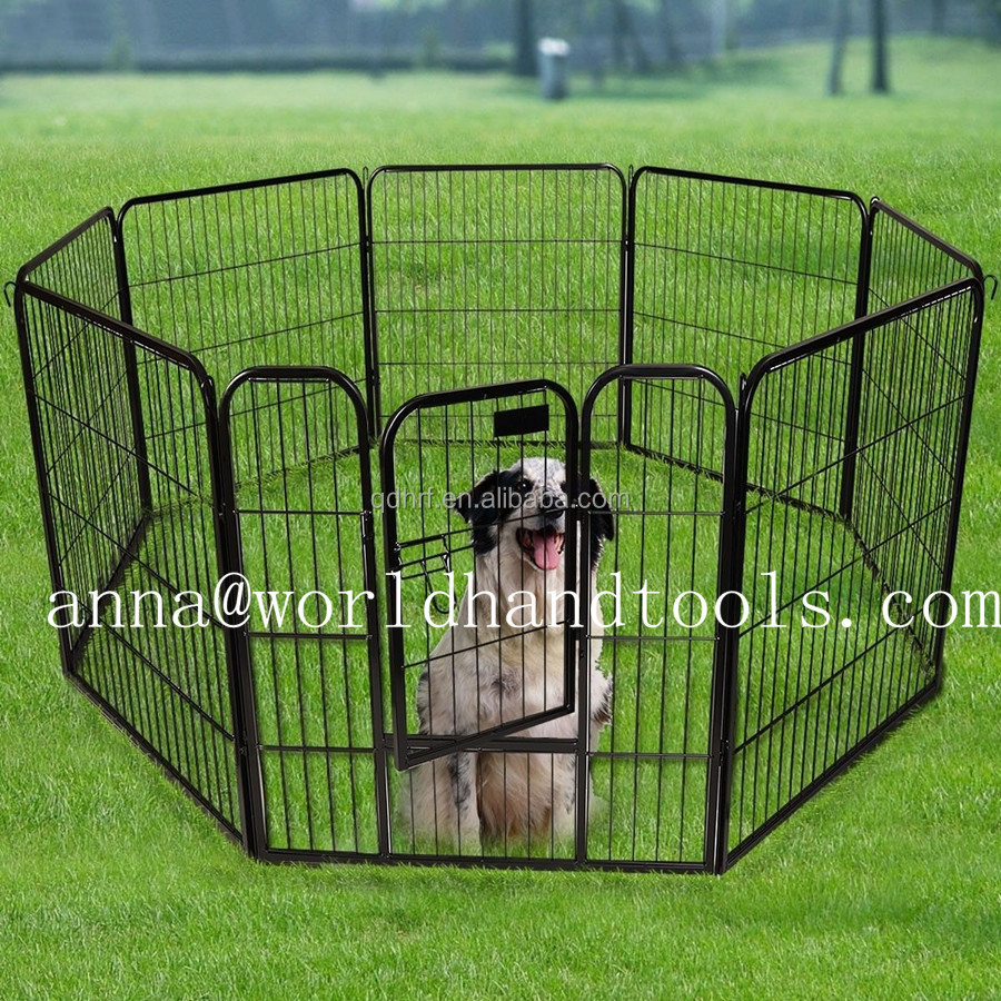 New Panel Heavy Duty Pet Playpen Indoor Outdoor Dog Exercise Pen Cat Fence