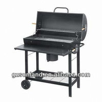 Deluxe large size braai charcoal barbecue grill with table