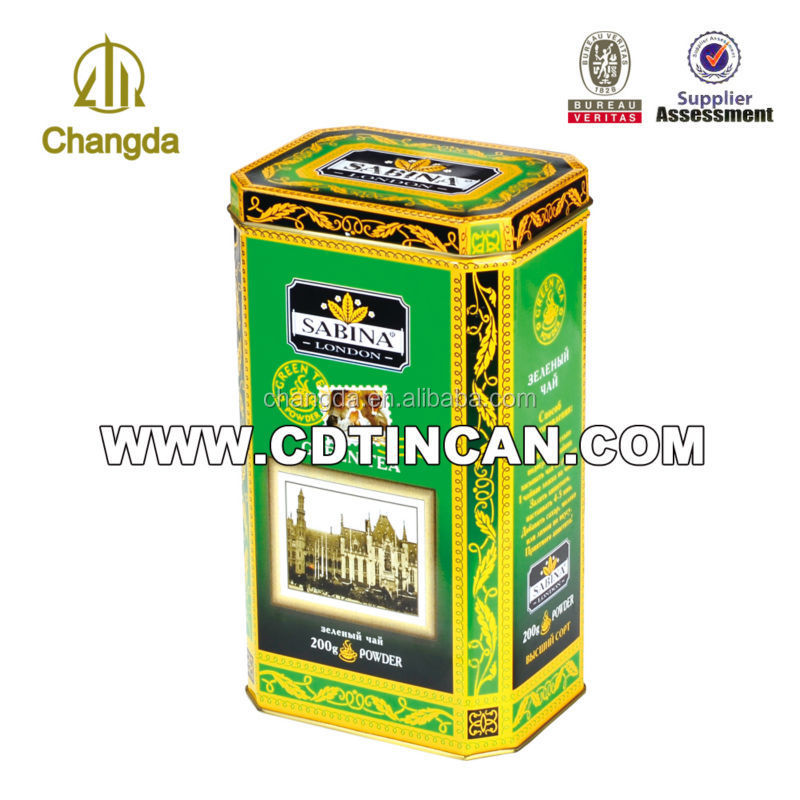 Promotion hexagon tea and coffee tin packaging box in alibaba CD-003