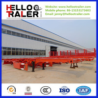 flatbed container semi trailer for 40ft 20ft shipping container with promotion price