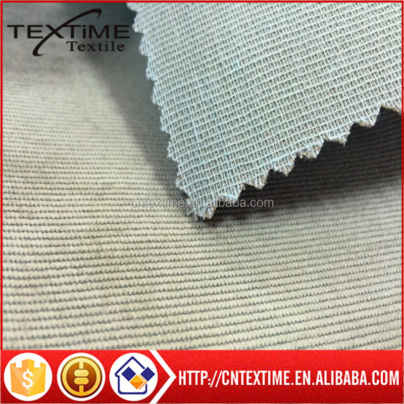 Polyester nylon spandex fabric 18W elastine backed TC fabric for furniture/gaments