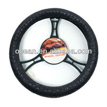 High Quality Black Pattern Printed PVC Steering Wheel Cover SPC-24615