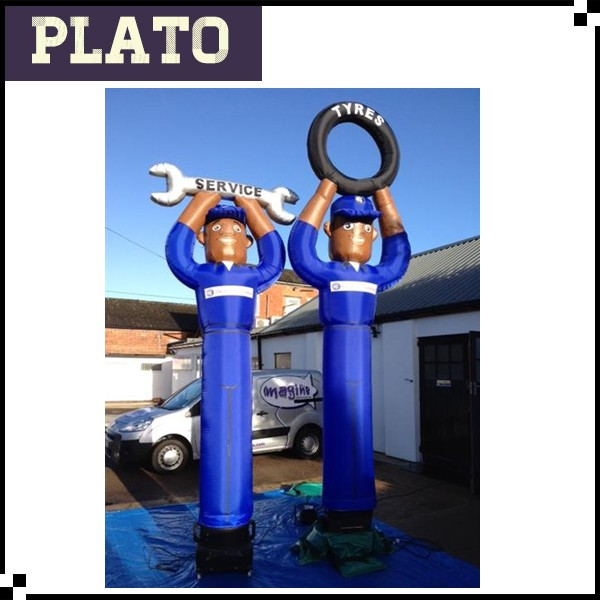 inflatable sky guy mechanic tyre men air dancer for sale