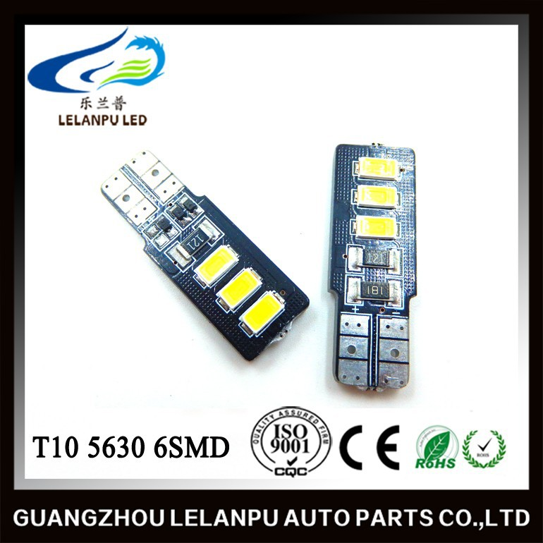 high power 3w 6SMD 5630 t10 led canbus Error Free Led Light