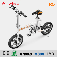 NEWEST!! 16 Inch electric bicycle foldable electric bike with back mudguard AIRWHEEL R5