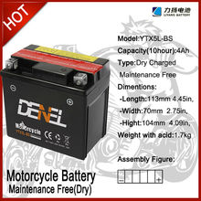 high power mf 3wheel motorcycle batterybattery/Motorcycle battery 12V 4AH YTX5L-BS
