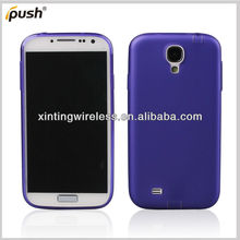 Dust plug subtransprent PC rubber case for Samsung Galaxy S4