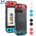 2017 new Listing Soft Protective TPU material back Cover Case with Silicone thumb grip kit for Nintendo Switch