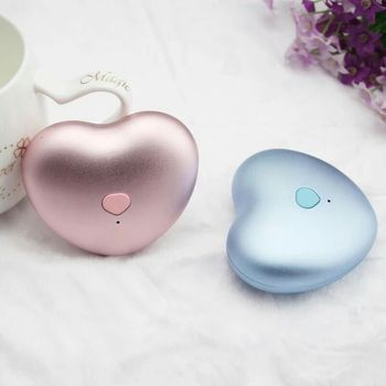 HIGH QUALITY Power Bank cute heart Hand Warmer for android phone