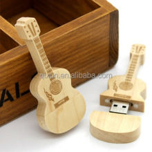 1gb 2gb 4gb 8gb 16gb 32gb wooden usb flash drive in guitar shape ,brand usb flash drive