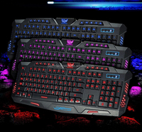 Waterproof keyboard 3 Colors Backlight keyboard Illuminated USB M200 Gaming Keyboard for PC Laptop Gamer