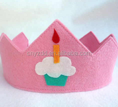 Free sample wholesale custom party queen felt crown in cheap price