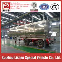 3 axle factory supply stainless steel tank trailer transport oil fuel tanker