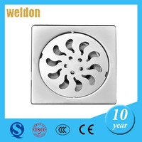 Weldon factoyr direct sale durable artistic 4 inches stainless steel floor drain with custom design