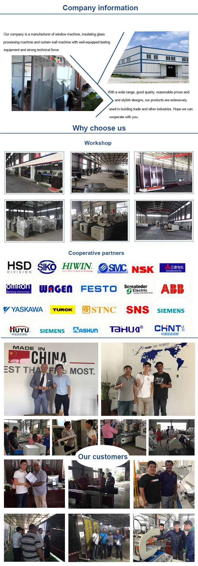 Jinan automatic Insulating glass machine equipment Vertical Glass washing machine