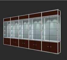 Best selling customized mobile phone store glass display shelf