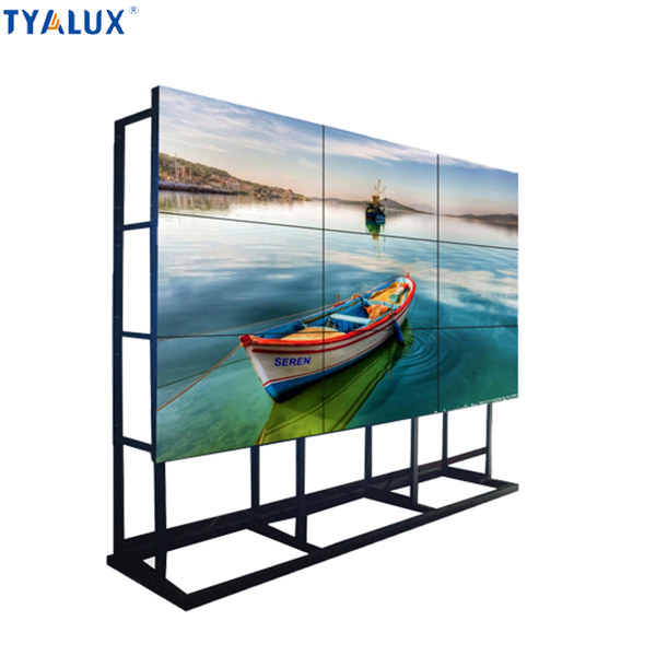 55 inch portable touchscreen monitor wall mounted totem advertising player
