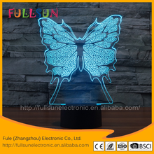 FS-3099 Online wholesale LED light base good night 3D Electronic gift items with butterfly shape