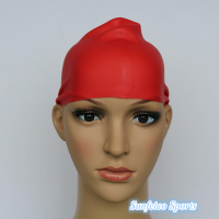100% High Quality Silicone Plain Strong Swimming Swim Hat Cap~Silicone Rubber Swimming Caps~7 colors(accept custom)