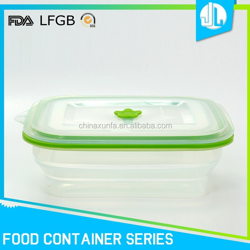 FDA / LFGB grade collapsible cheap silicone japanese food container