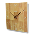 Wholesale Square Shaped Simple Decorative Customizable 35cm Wooden clock