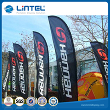 best selling Promotional custom flying beach feather flags with printing