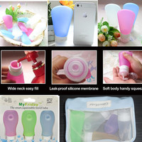 Travel Containers for Cosmetics/ BPA Free Refillable Silicone Travel Containers for Cosmetics