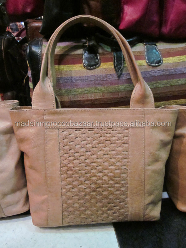Excellent Quality Moroccan Handicraft Leather and Fur Handbag