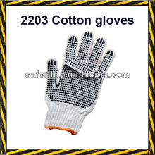 Cotton Gloves/String Knit Gloves with Dots